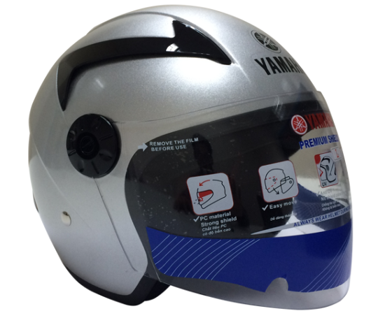 Mũ bảo hiểm 3/4 kiểu 2 -Chrome Silver