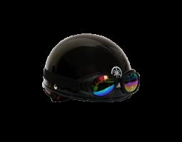 Mũ bảo hiểm nửa đầu kiểu 1 - Jet Black