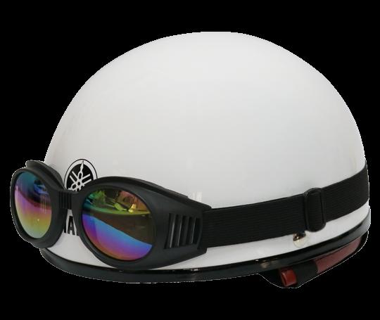Mũ bảo hiểm nửa đầu kiểu 1 – Pearl White