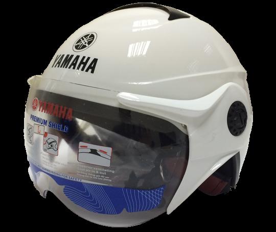 Mũ bảo hiểm nửa đầu kiểu 2 – Pearl White