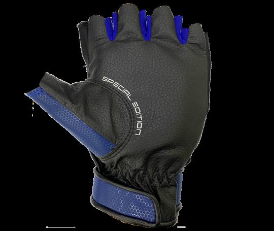 Găng tay nửa ngón thể thao (xanh)