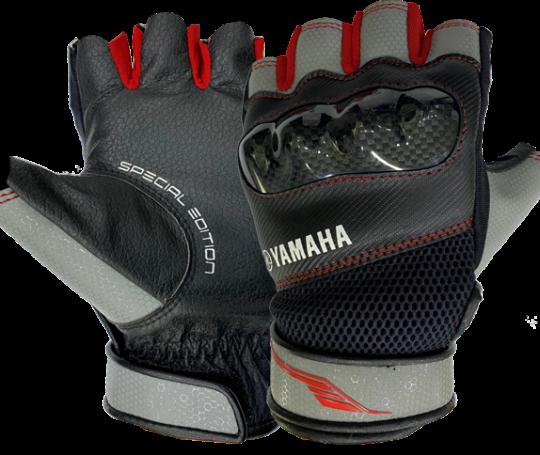 Găng tay nửa ngón thể thao ( đỏ – xám)