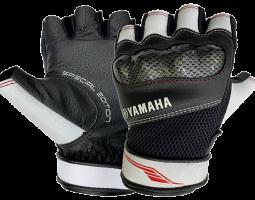 Găng tay nửa ngón thể thao (trắng đỏ)