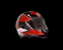 Mũ bảo hiểm cả đầu thể thao màu đỏ - trắng