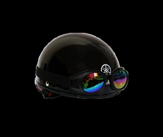 Mũ bảo hiểm nửa đầu kiểu 1 – Jet Black