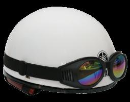 Mũ bảo hiểm nửa đầu kiểu 1 - Pearl White