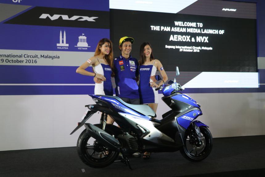 Valentino Rossi xuất hiện trong buổi họp báo siêu xe ga NVX tại Malaysia