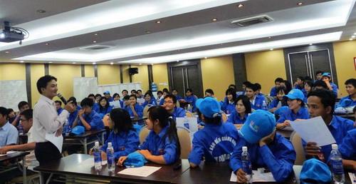 ( Tổ chức huấn luyện trước khi ra quân tại Công ty Yamaha Motor Việt Nam )