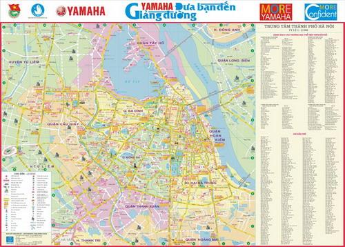 ( Bản đồ Hà Nội được thiết kế đặc biệt phù hợp với các trường học)