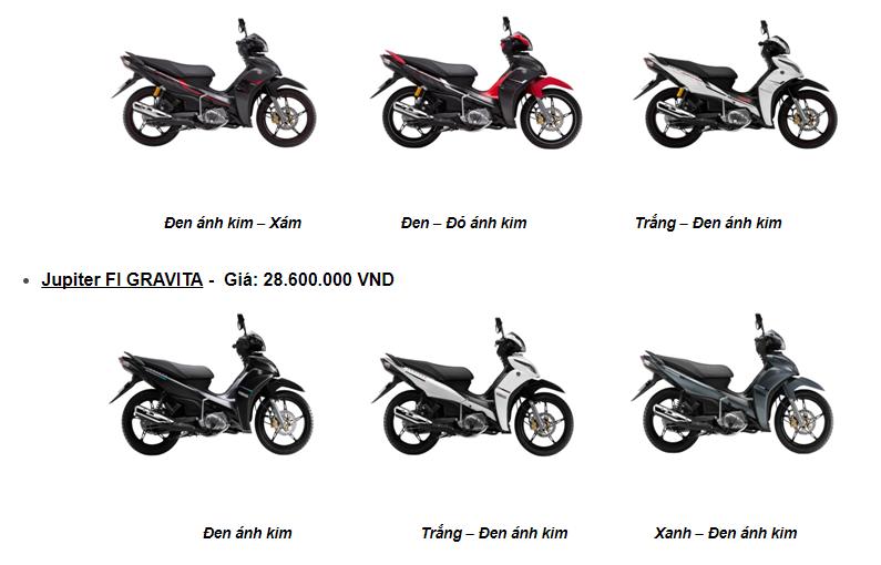 Yamaha Motor Việt Nam giới thiệu lọat phiên bản mới cho các dòng xe số năm 2016