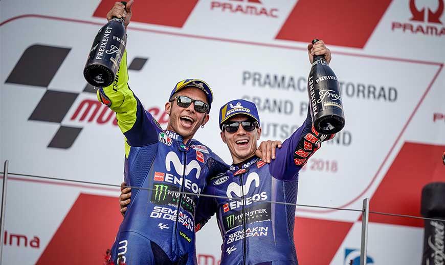 Kết quả vòng 9 MotoGP: Yamaha Movistar MotoGP xuất sắc giành podium đôi tại Sachsenring
